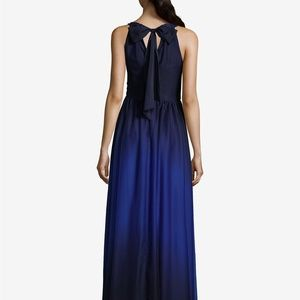 b39d47771 Betsy   Adam Dresses - Betsy   Adam Ombré Chiffon Halter Gown Navy Size 4